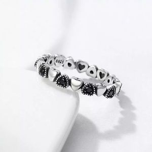 925 sterling silver stackable heart ring